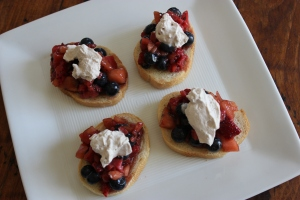 Top Strawberry Bruschetta recipe
