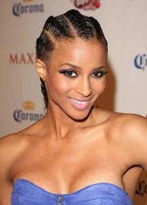 Ciara french braid hairstyle