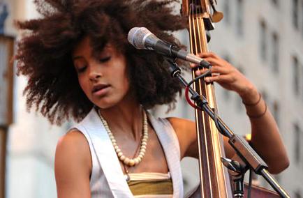 Esperanza Spalding natural hair bass musician artist