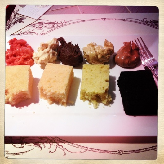 {cake tasting at Superfine Bakery}