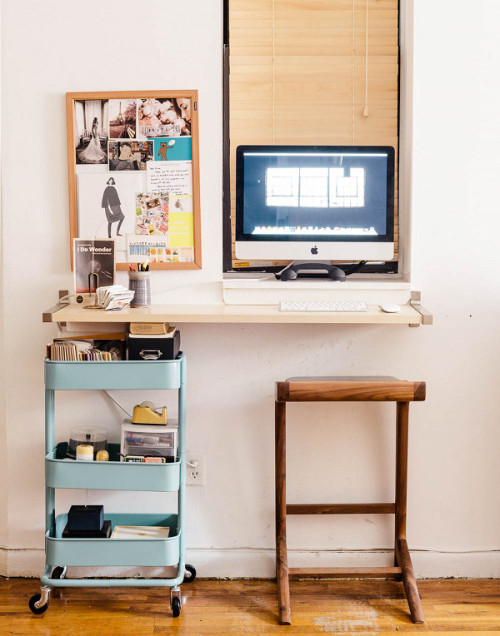 Minimal home office space